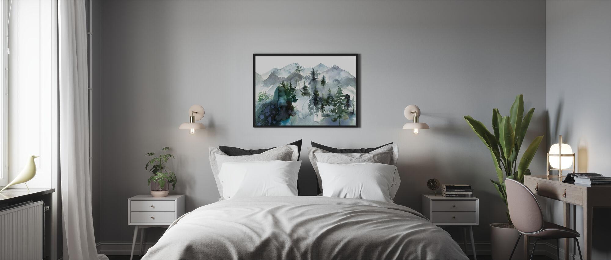 Aquarelllandschaft - Poster - Schlafzimmer