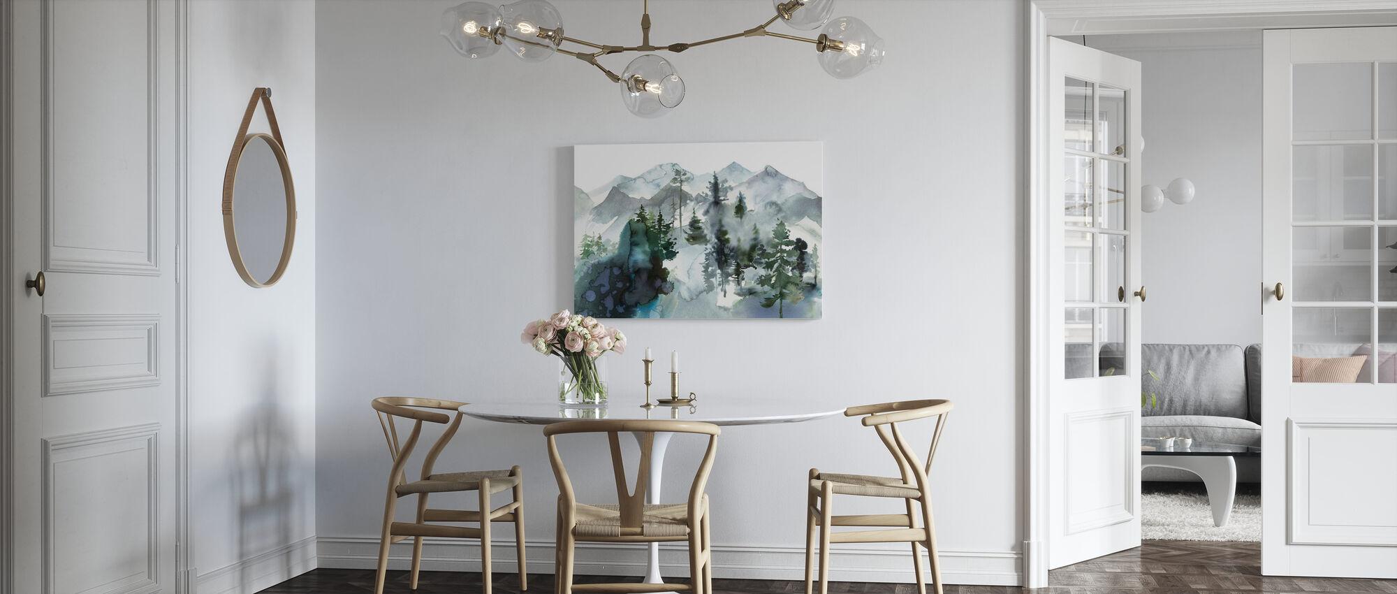 Akvarell Landskap - Canvastavla - Kök