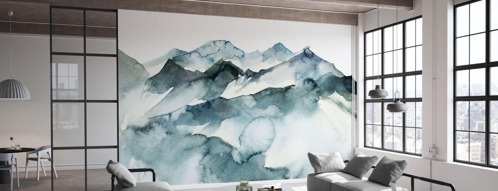Aquarell Berge - Tapete - Büro