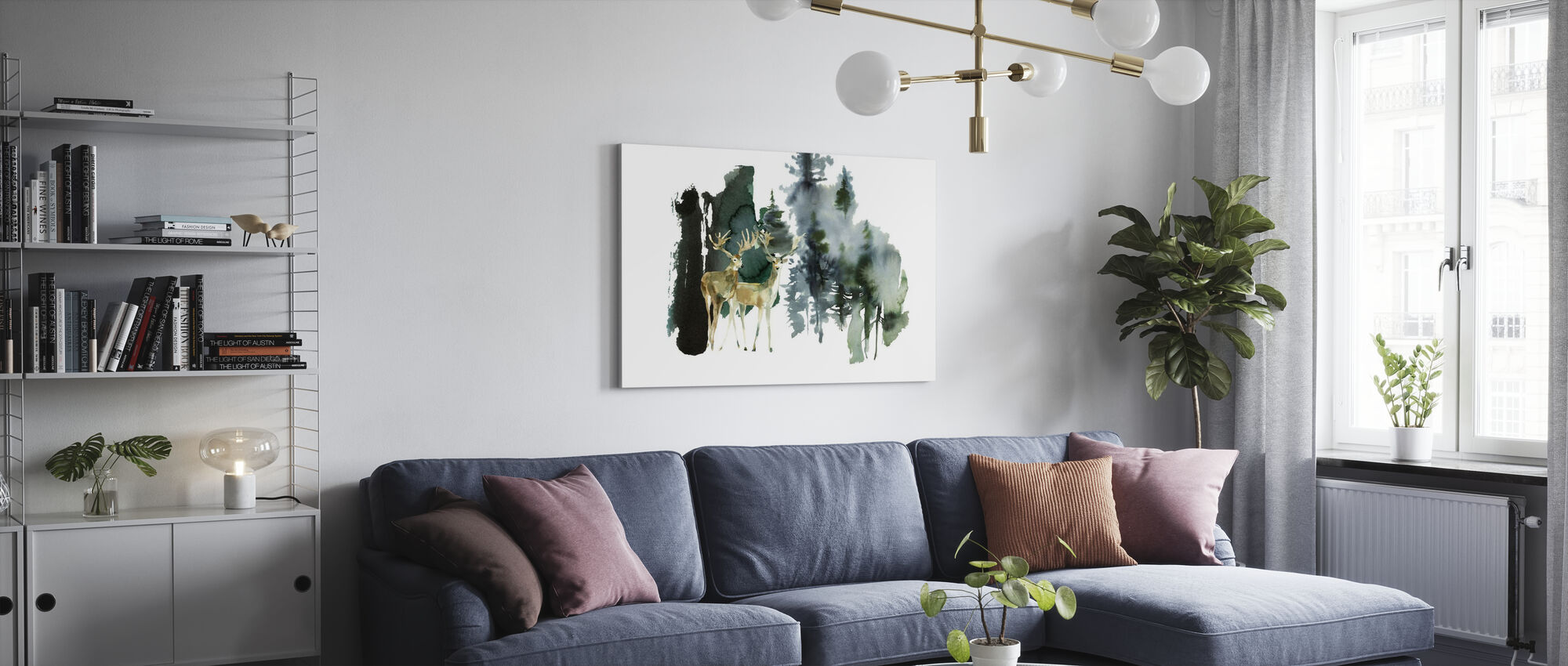 Watercolor Nature - Canvas print - Living Room