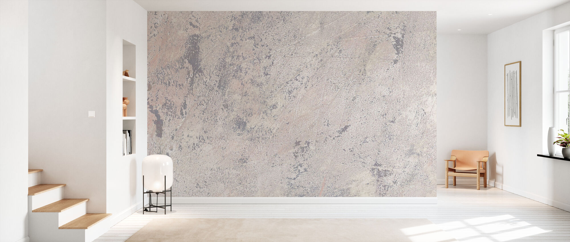 Weathered Toned Wall - Wallpaper - Hallway