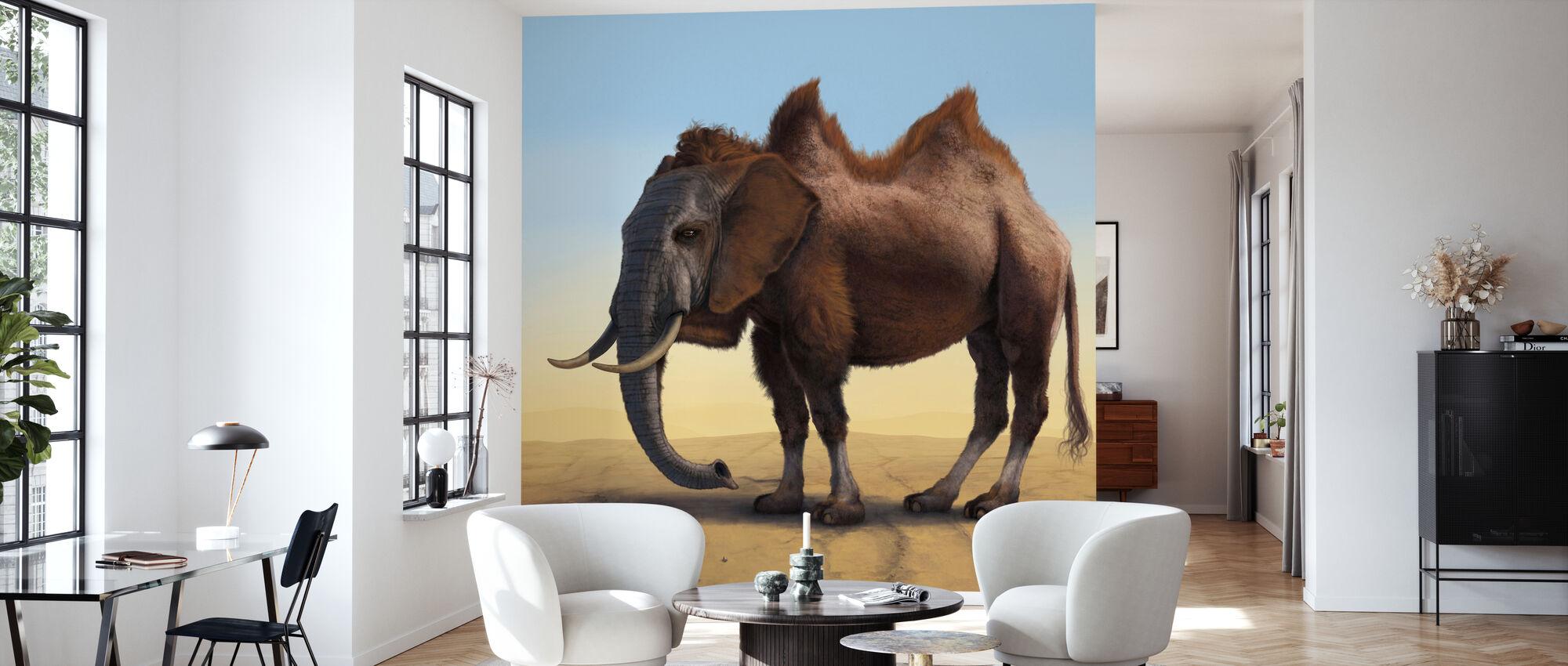 Kamelefant - Tapet - Vardagsrum