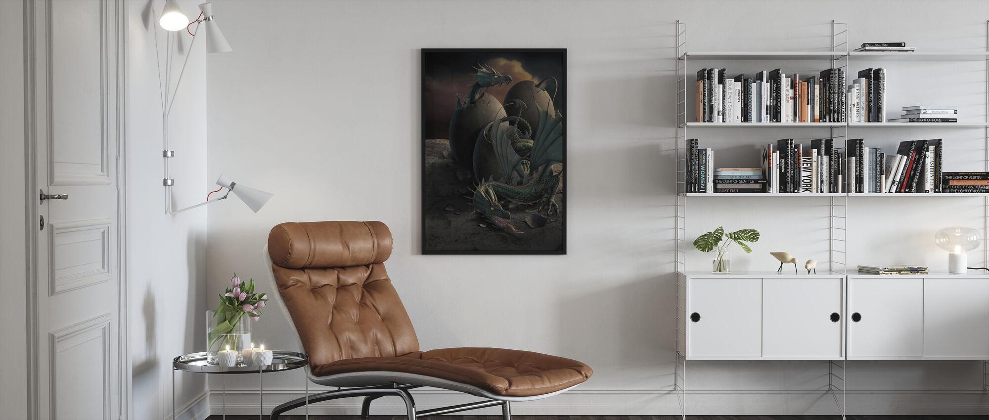 Lohikäärmeen jälkeläinen - Kehystetty kuva - Olohuone
