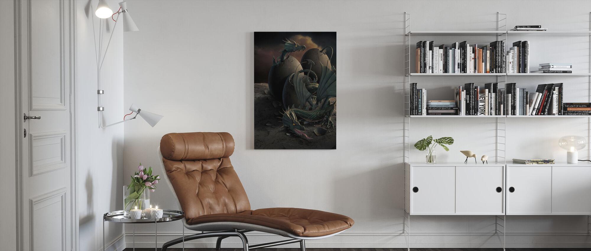 Lohikäärmeen jälkeläinen - Canvastaulu - Olohuone