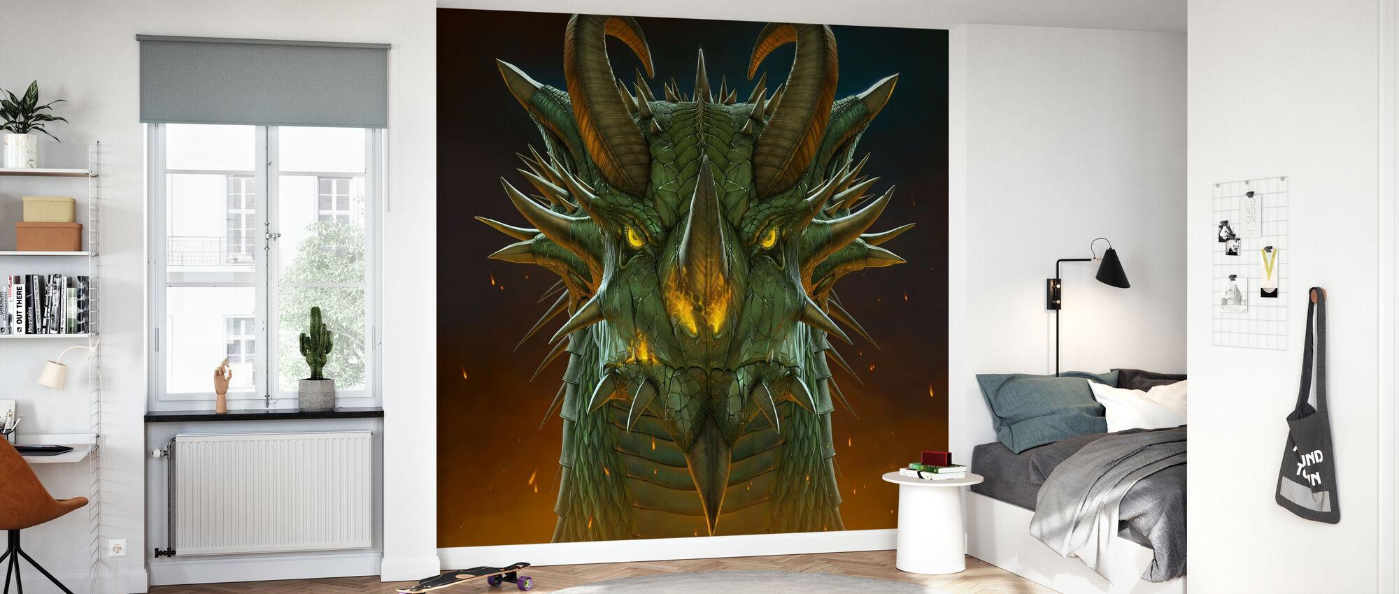 Dragon Porträtt - Tapet - Barnrum
