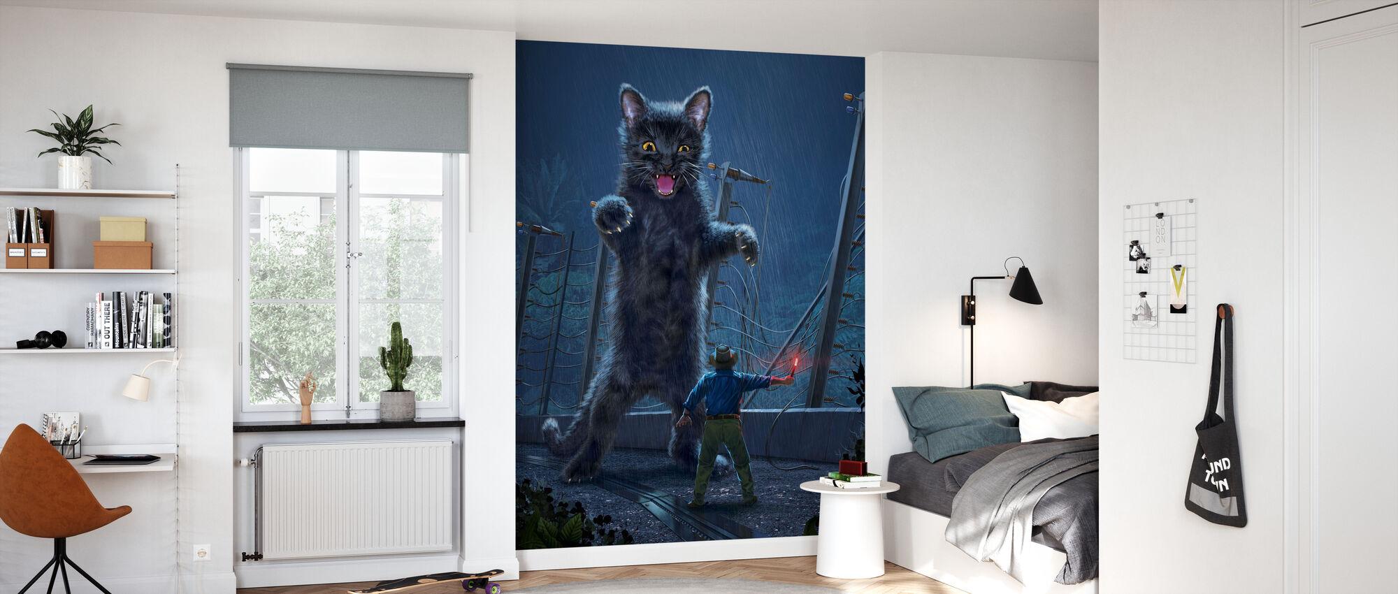 Jurassic Kitty - Wallpaper - Kids Room
