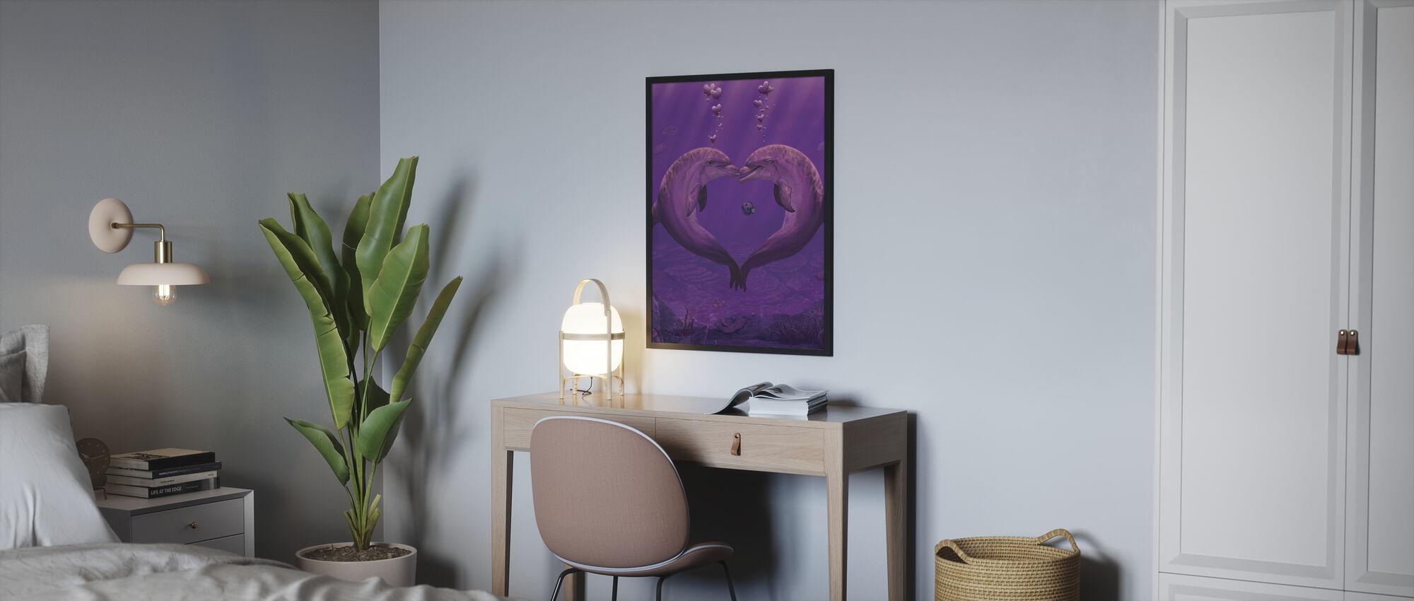 Sea of Hearts - Framed print - Bedroom