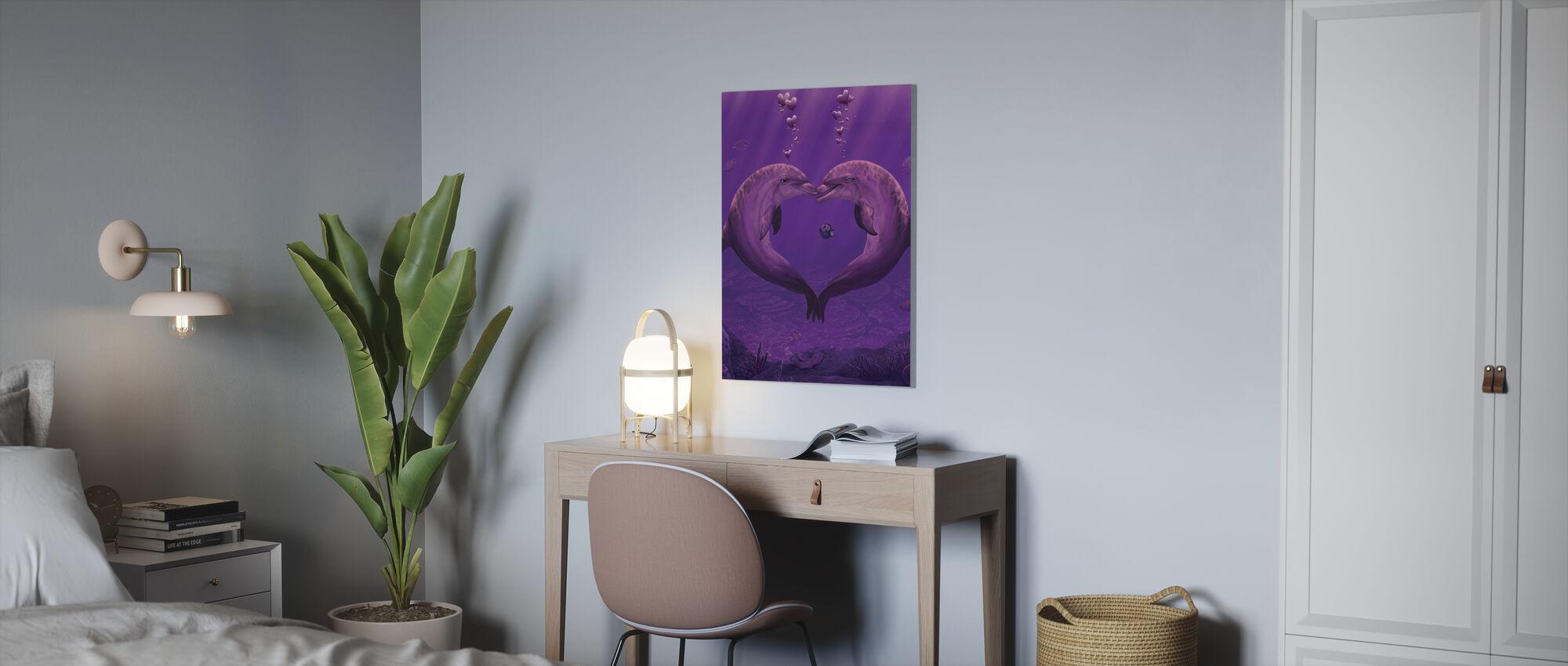 Sea of Hearts - Canvas print - Office