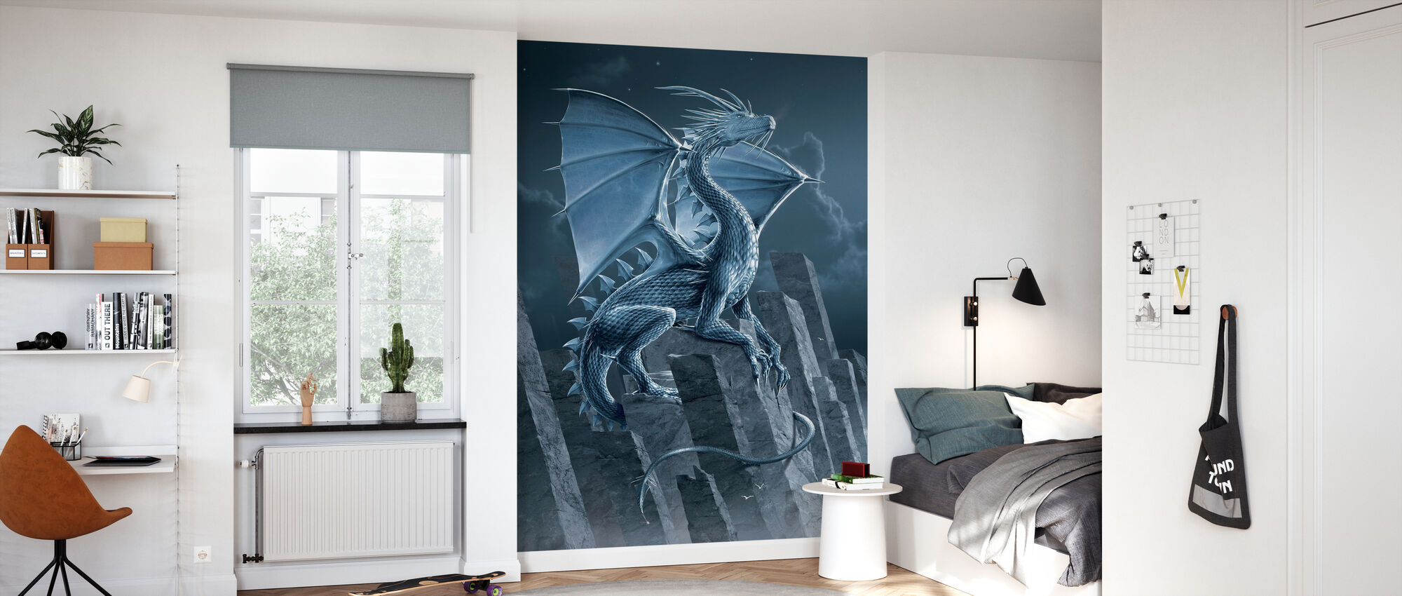 Silver Dragon - Wallpaper - Kids Room
