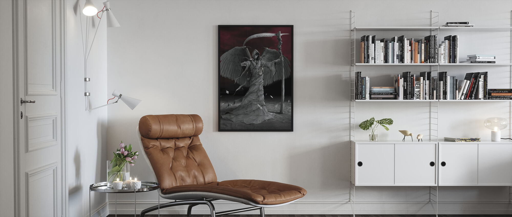 Time is Up - Framed print - Living Room