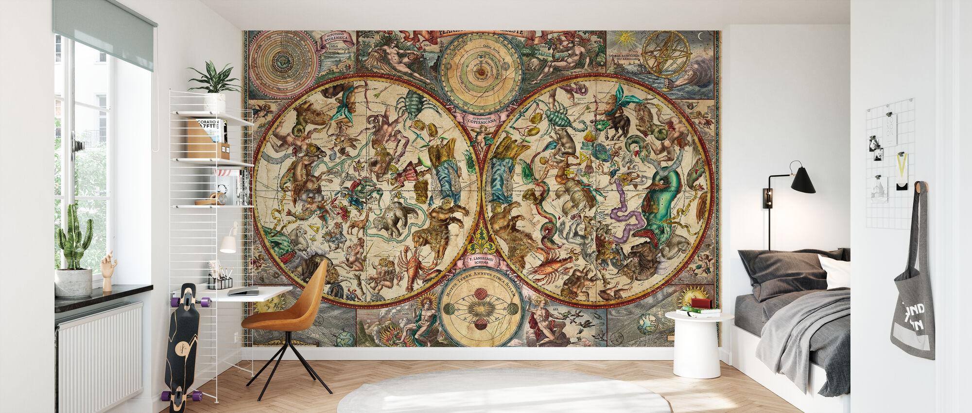 Celestial Map - Wallpaper - Kids Room