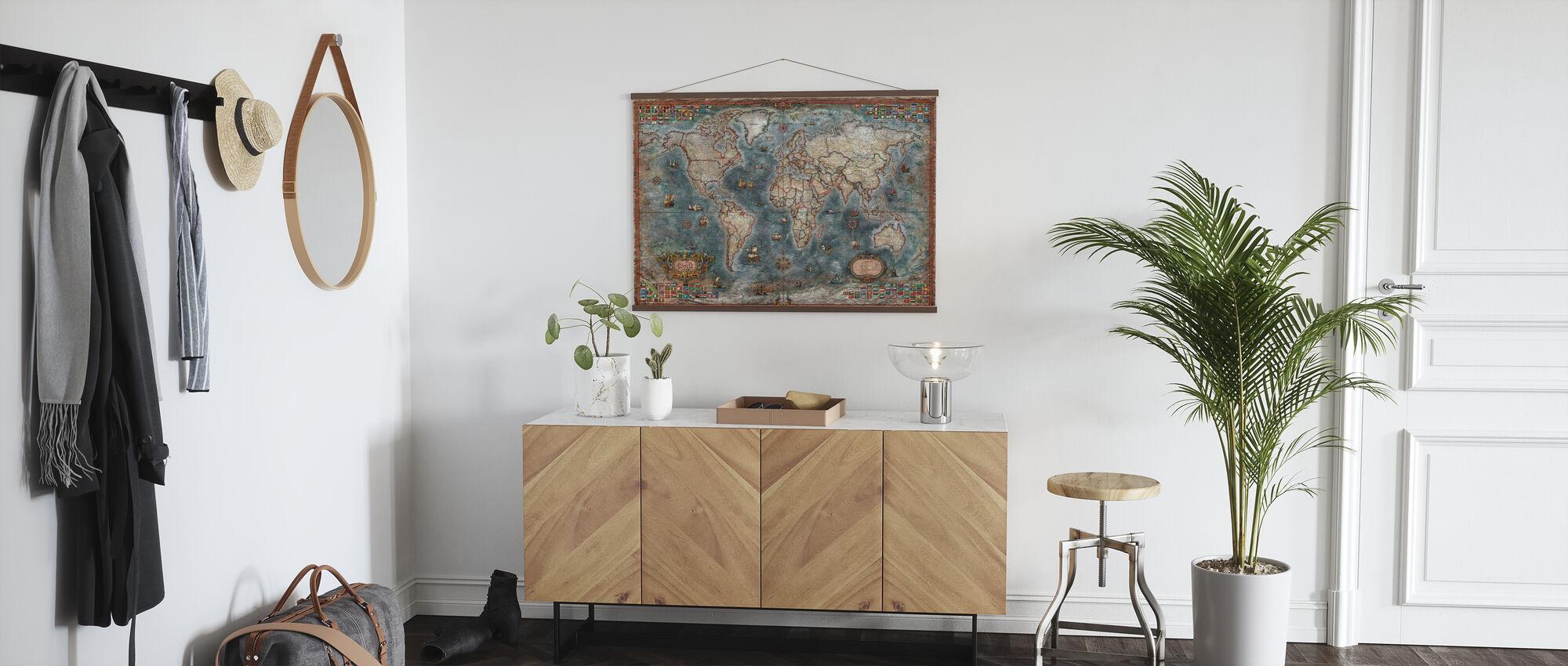 Old Style Maailmankartta - Juliste - Aula
