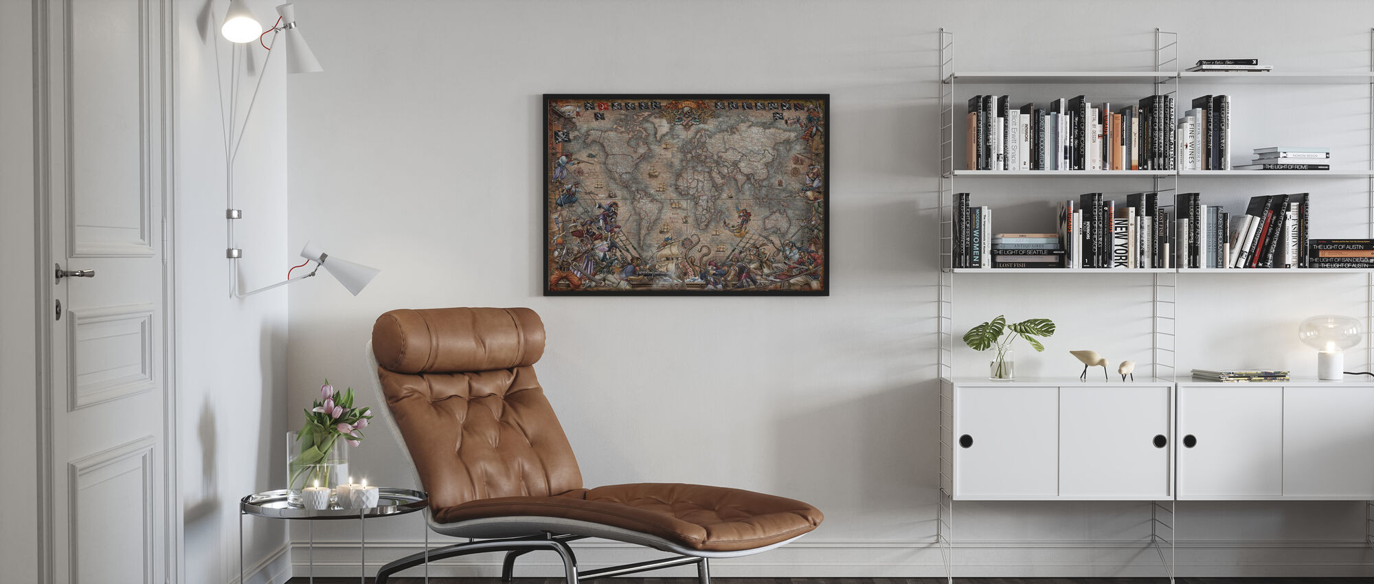 Pirates Map - Poster - Living Room