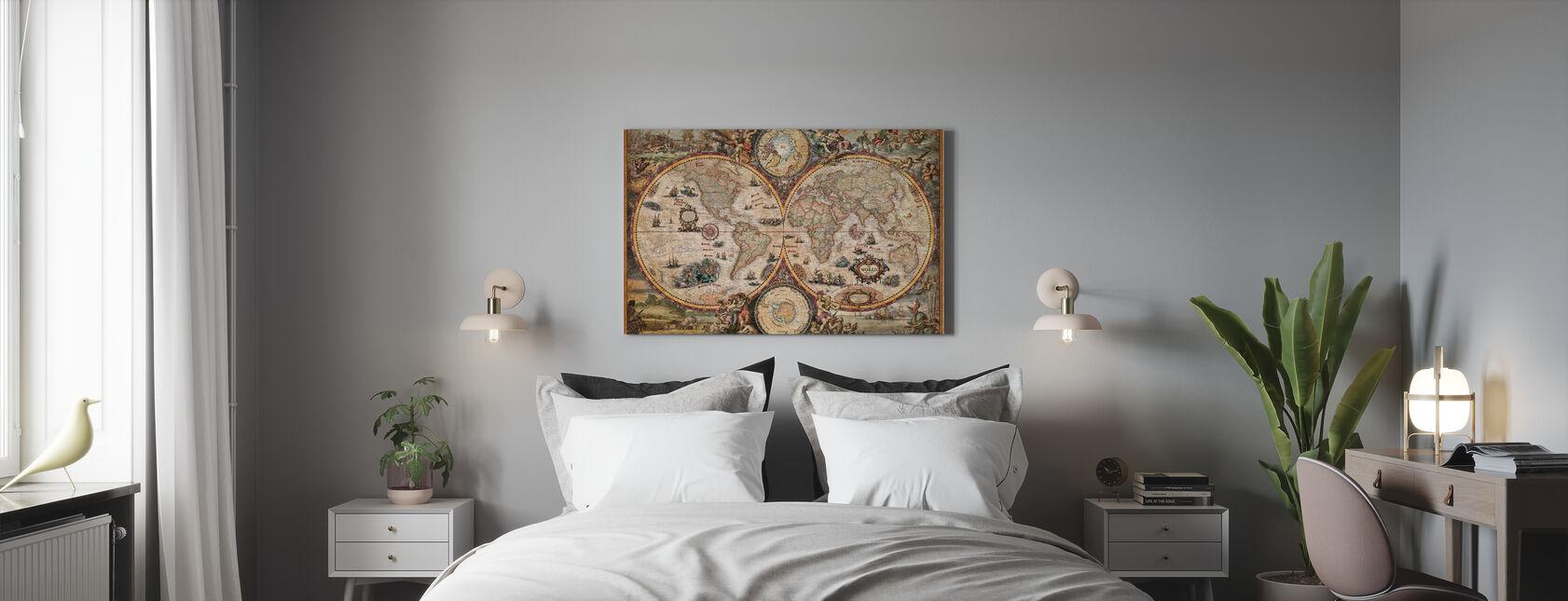 Vintage World Map - Canvas print - Bedroom