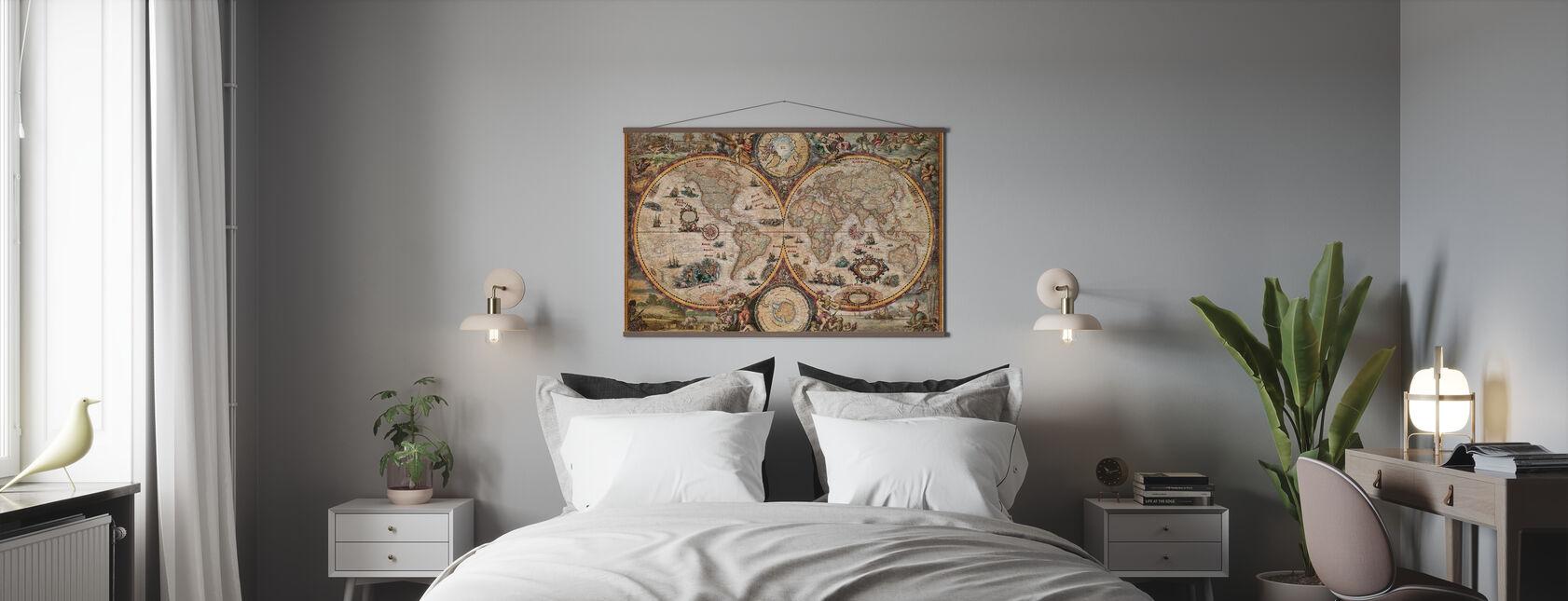 Carte du Monde Vintage - Affiche - Chambre