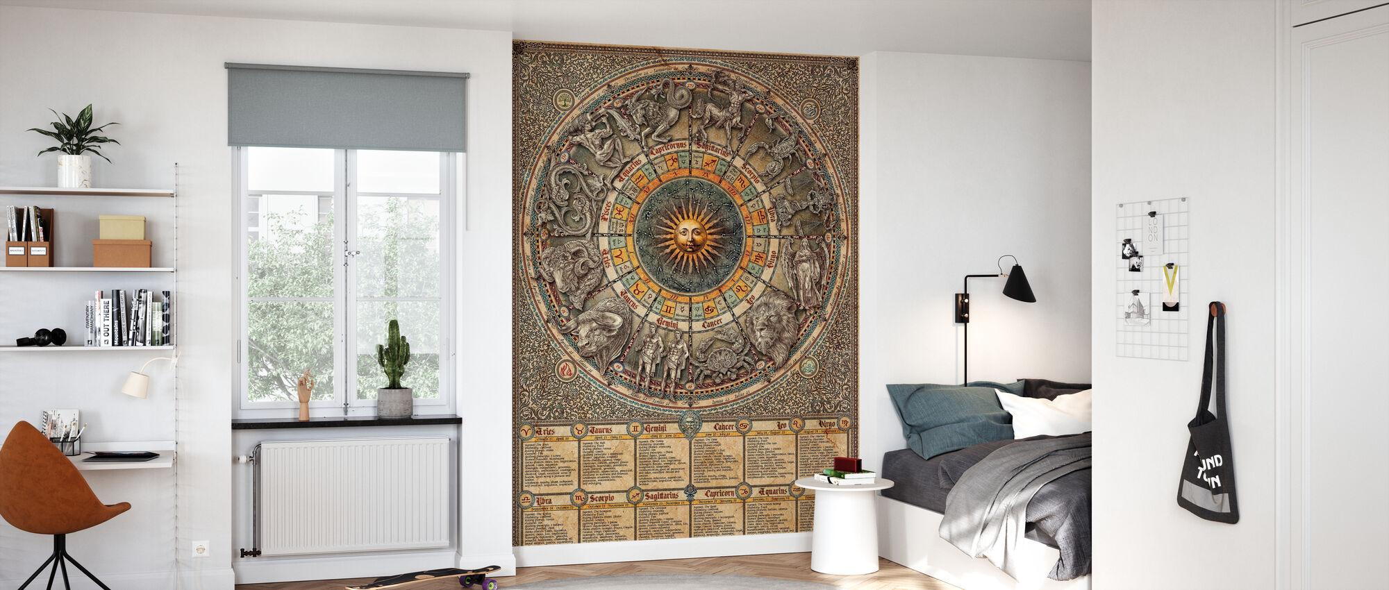 Zodiac - Text - Wallpaper - Kids Room