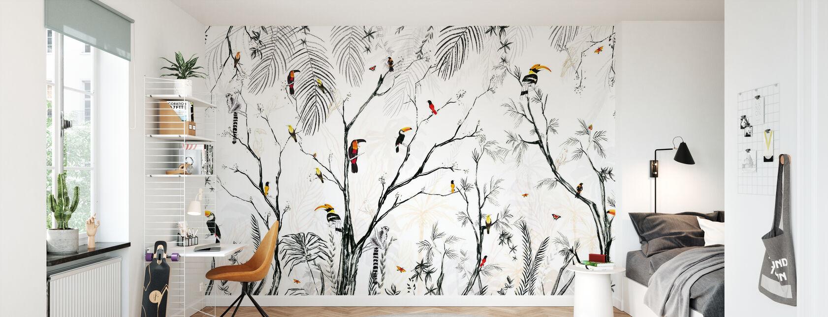 Carbón tropical - Papel pintado - Cuarto de niños