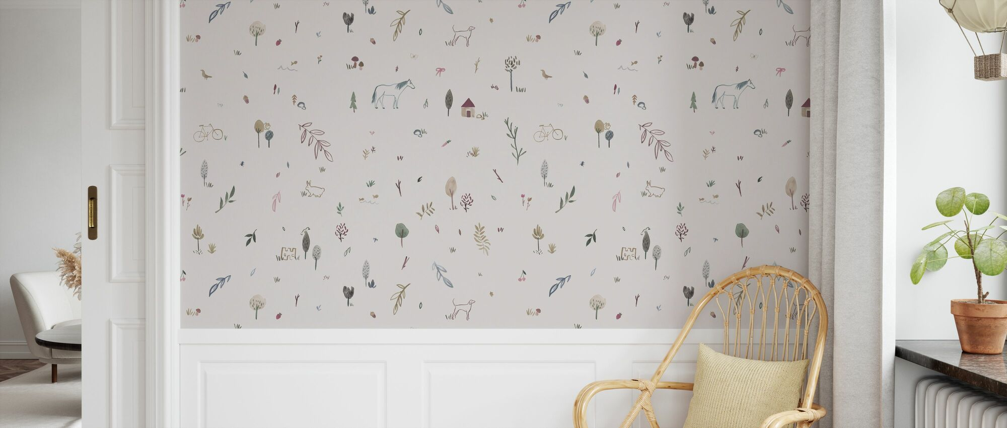 Whimsical Pink - Wallpaper - Kids Room