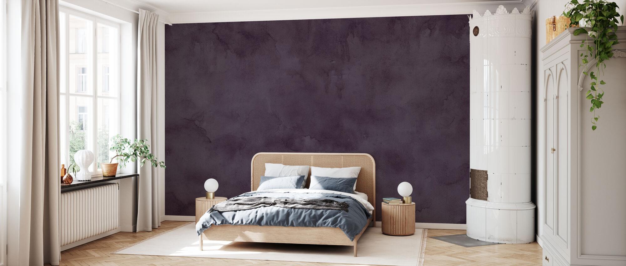 Akvarell - Aftonplommon - Tapet - Sovrum