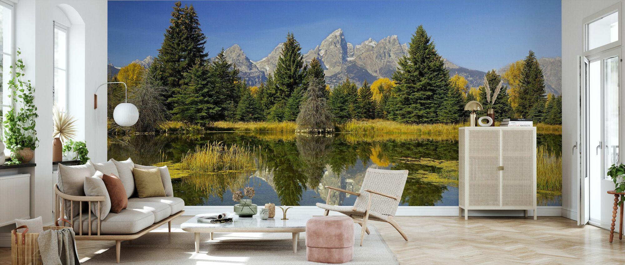 Beaver Pond - Wallpaper - Living Room