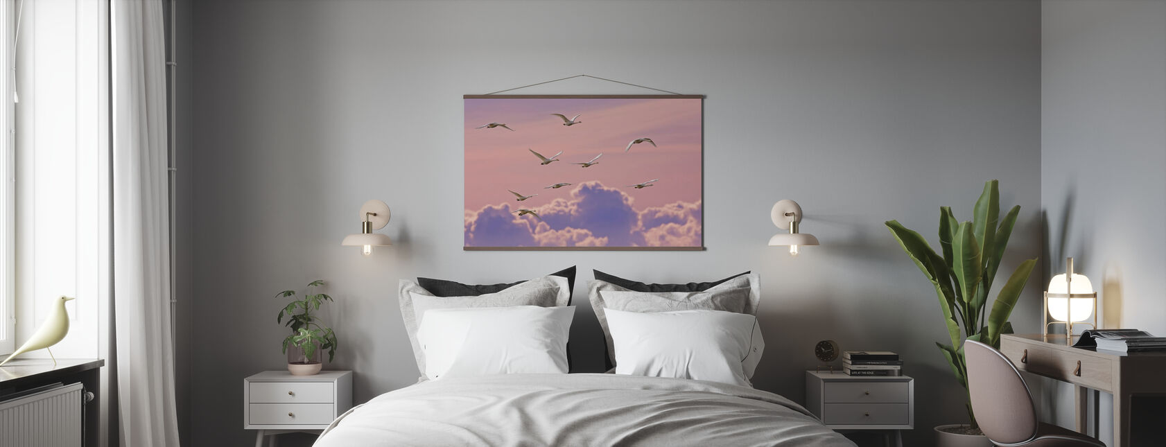 Whooper Swans - Poster - Bedroom