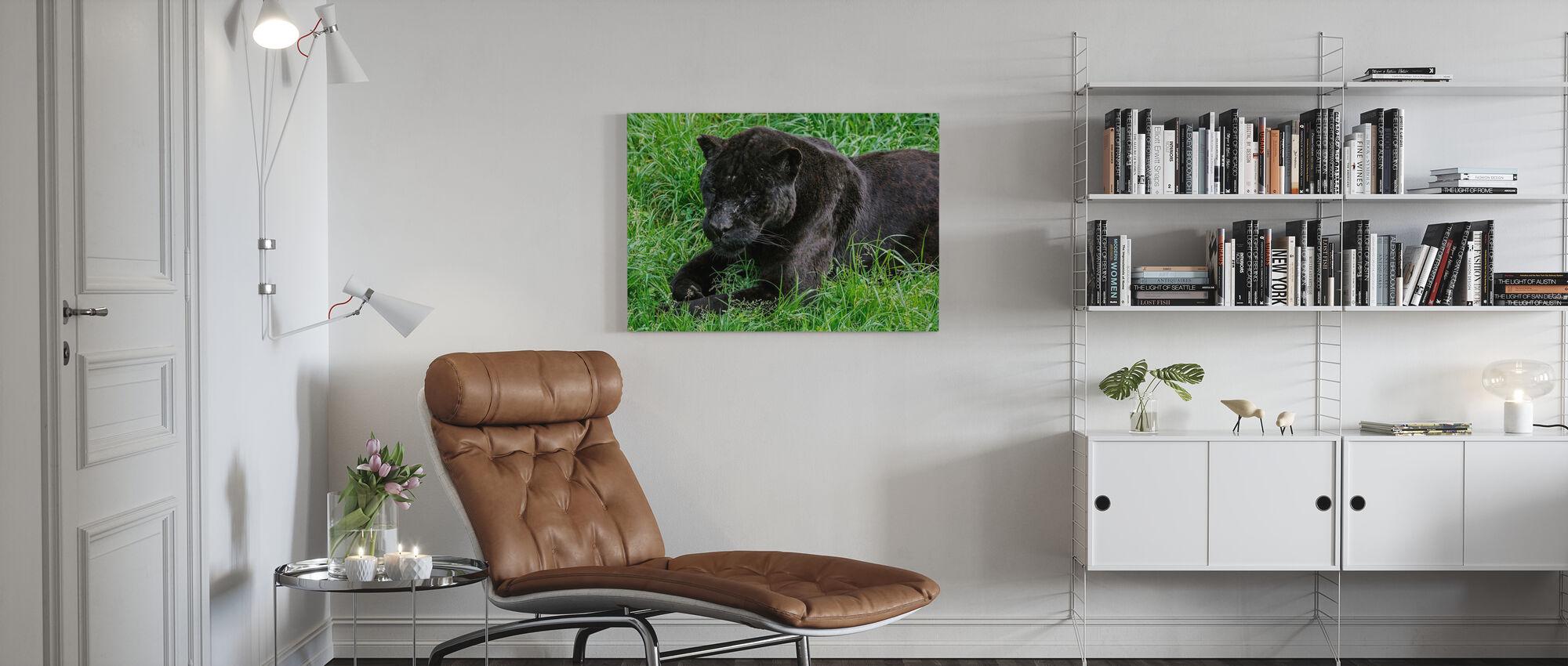 Zwarte Jaguar - Canvas print - Woonkamer