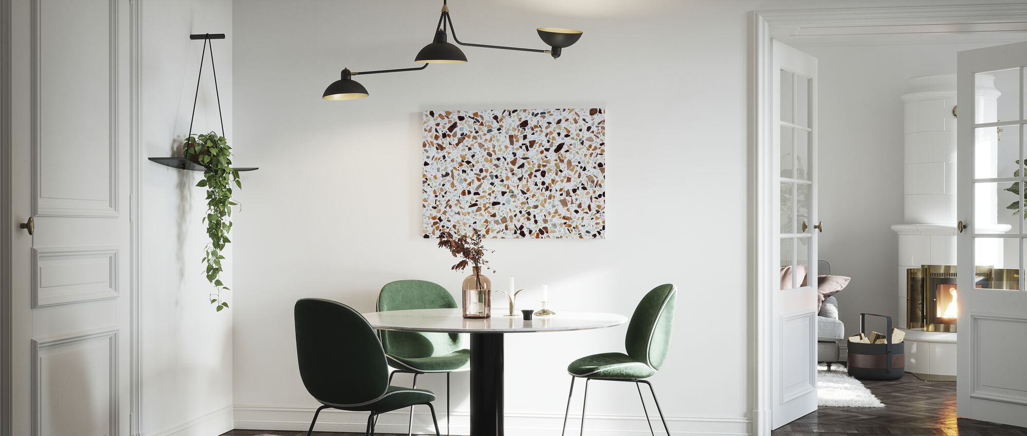 Klassieke Terrazzo Texturae - Canvas print - Keuken