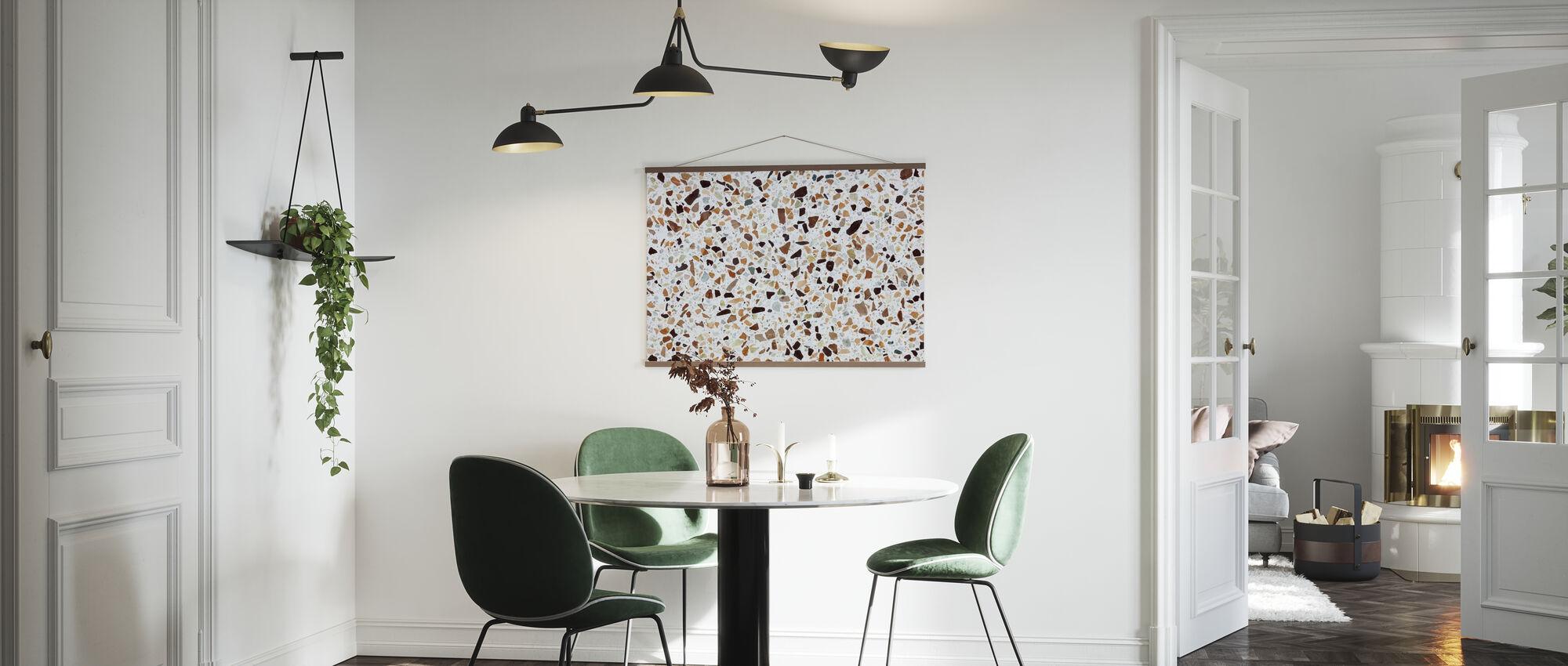 Klassieke Terrazzo Texturae - Poster - Keuken