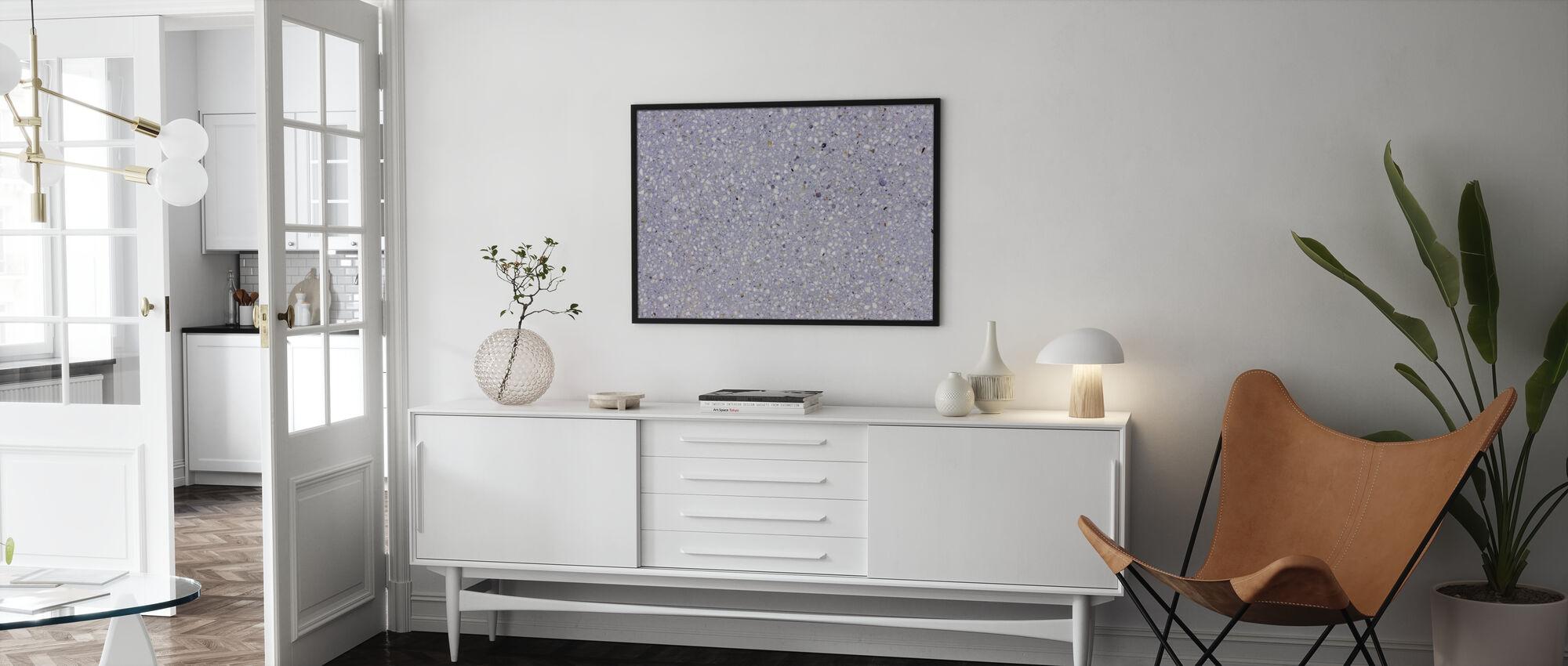 Lavender Terrazzo - Ingelijste print - Woonkamer