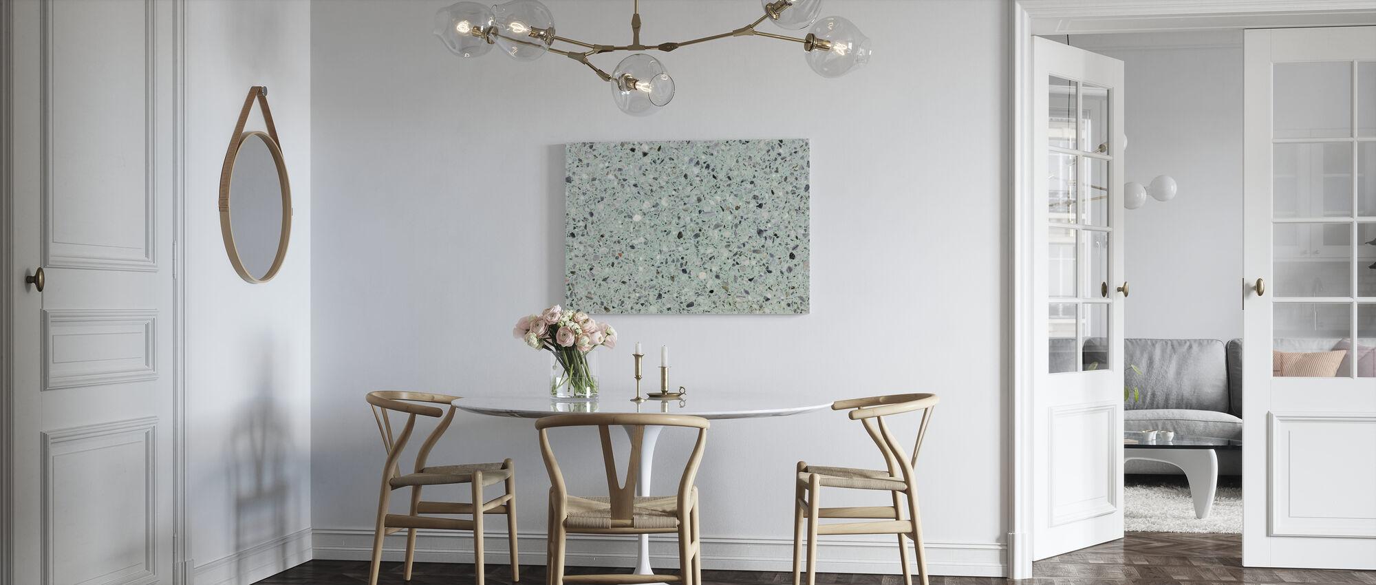 Minttu vihreä Terrazzo - Canvastaulu - Keittiö