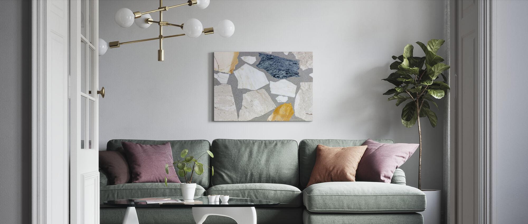 Mixed Terrazzo - Canvas print - Living Room