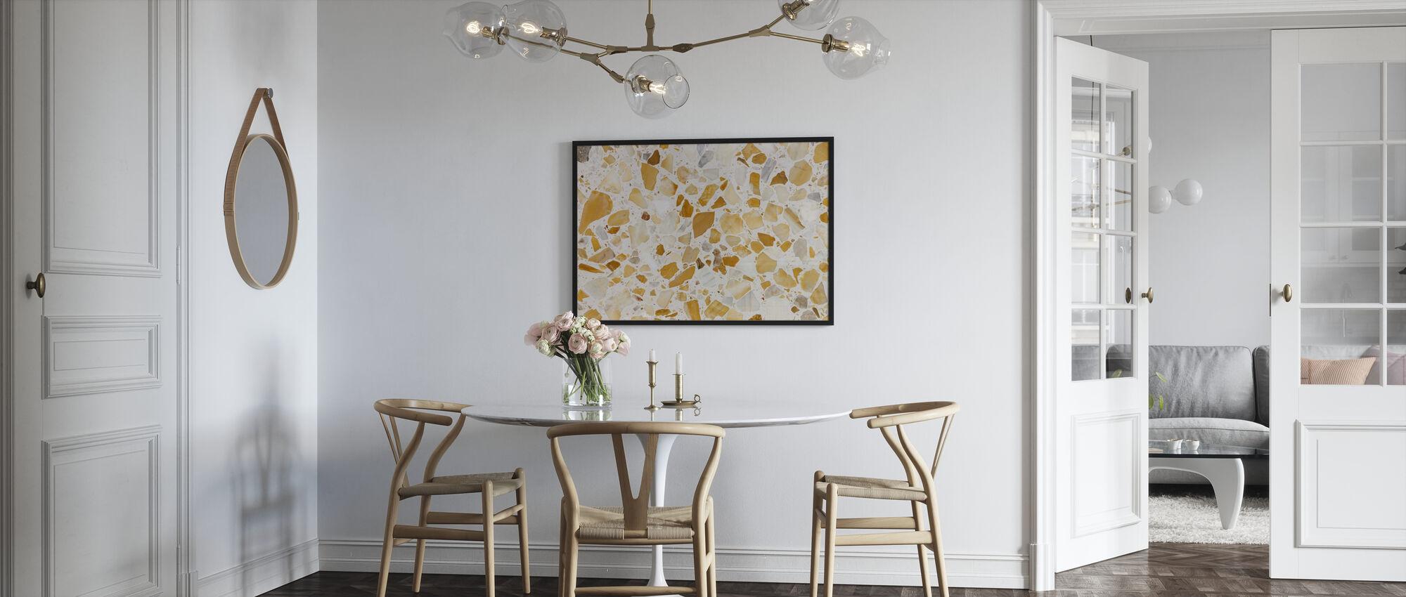 Orange Terrazzo Pattern - Poster - Kitchen
