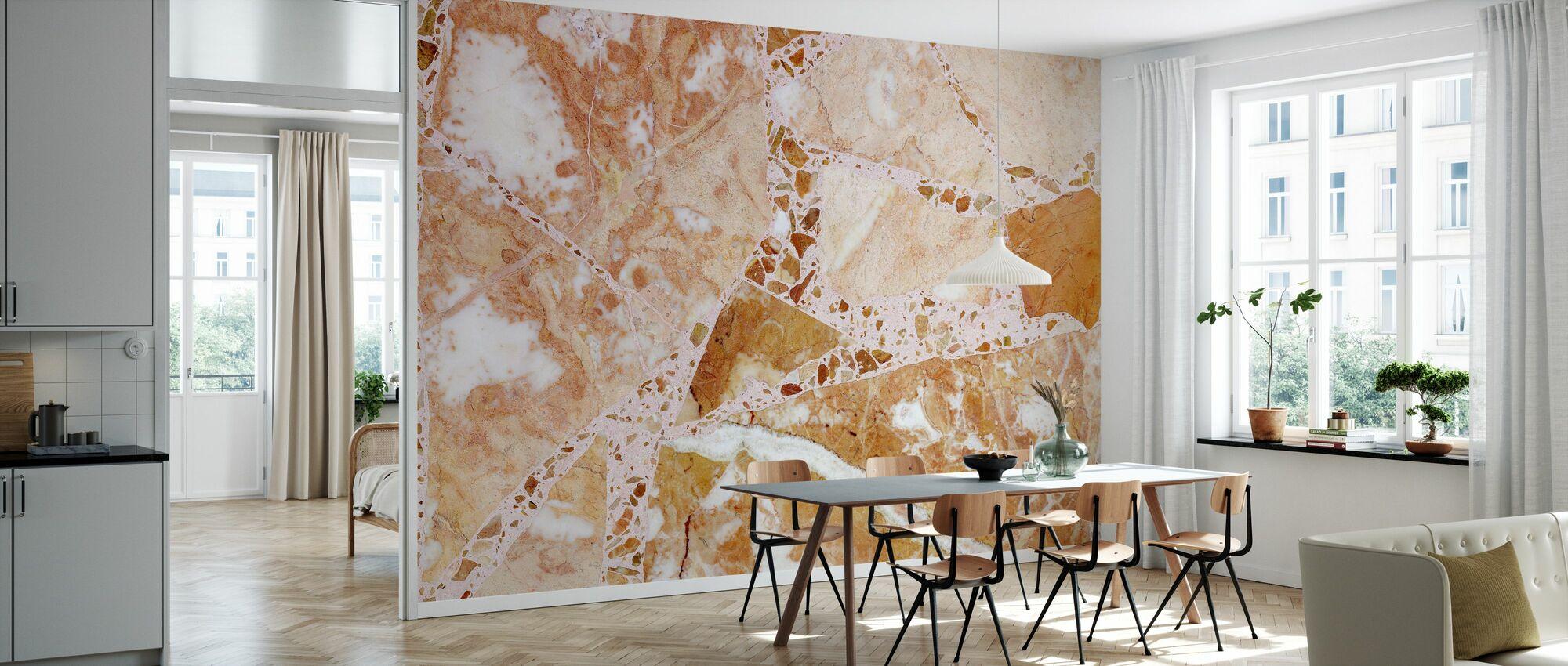 Orange Terrazzo - Tapet - Kök