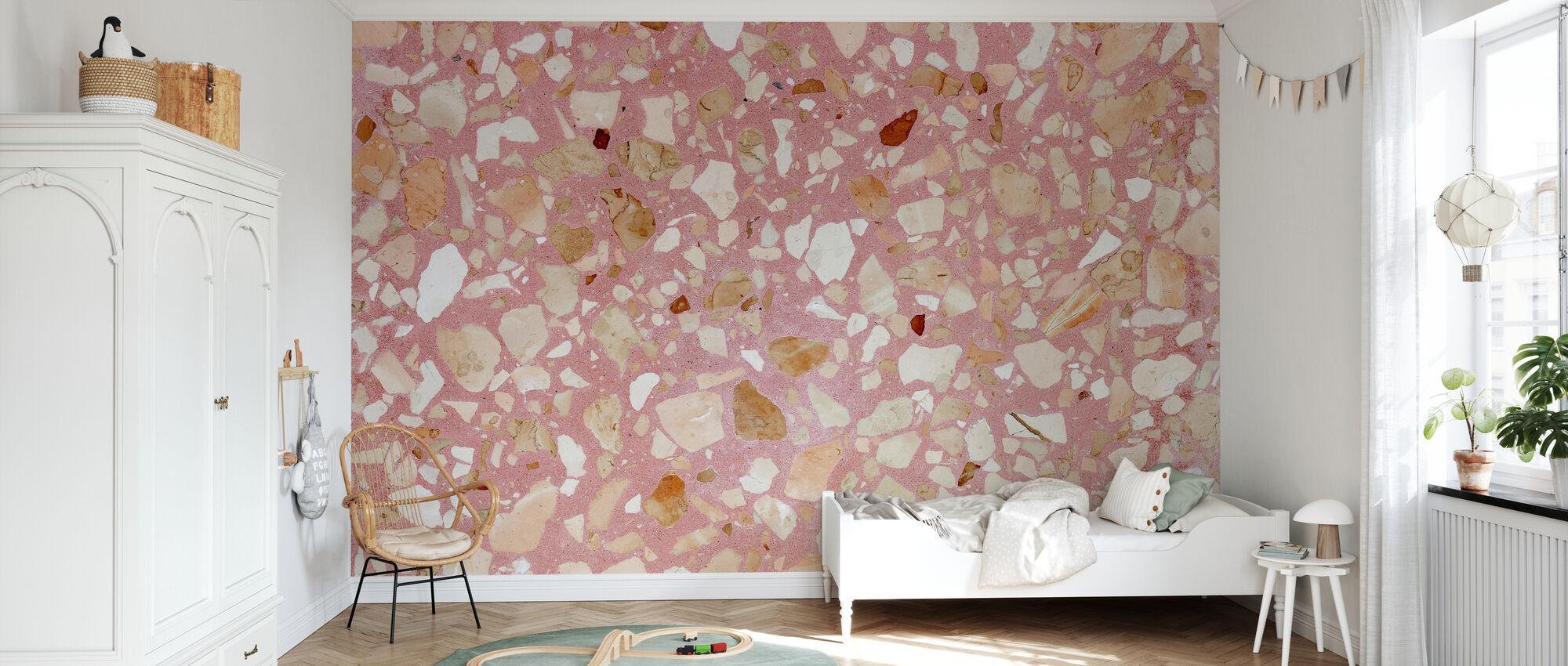 Pink Terrazzo Texturae - Tapet - Barnrum