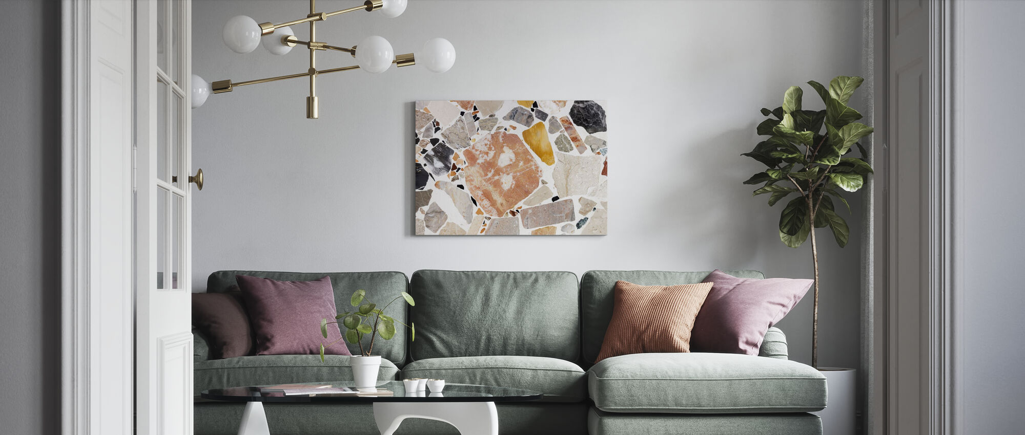 Varm Terrazzo - Canvas print - Woonkamer
