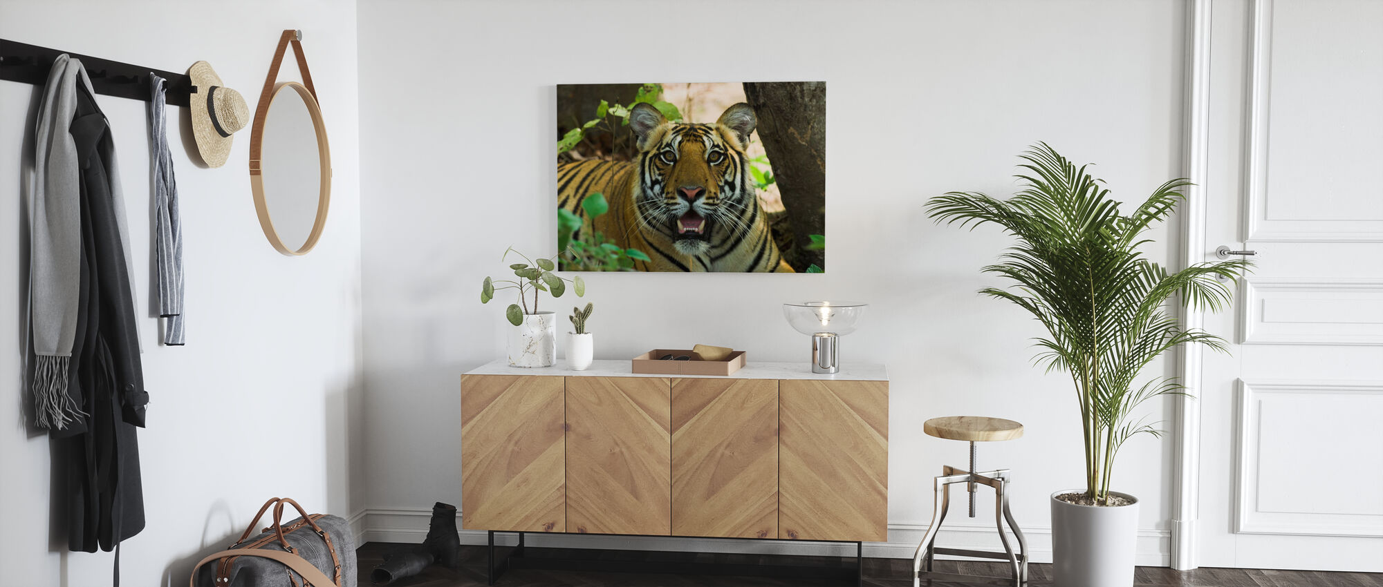 Male Bengal Tiger II - Canvas print - Hallway