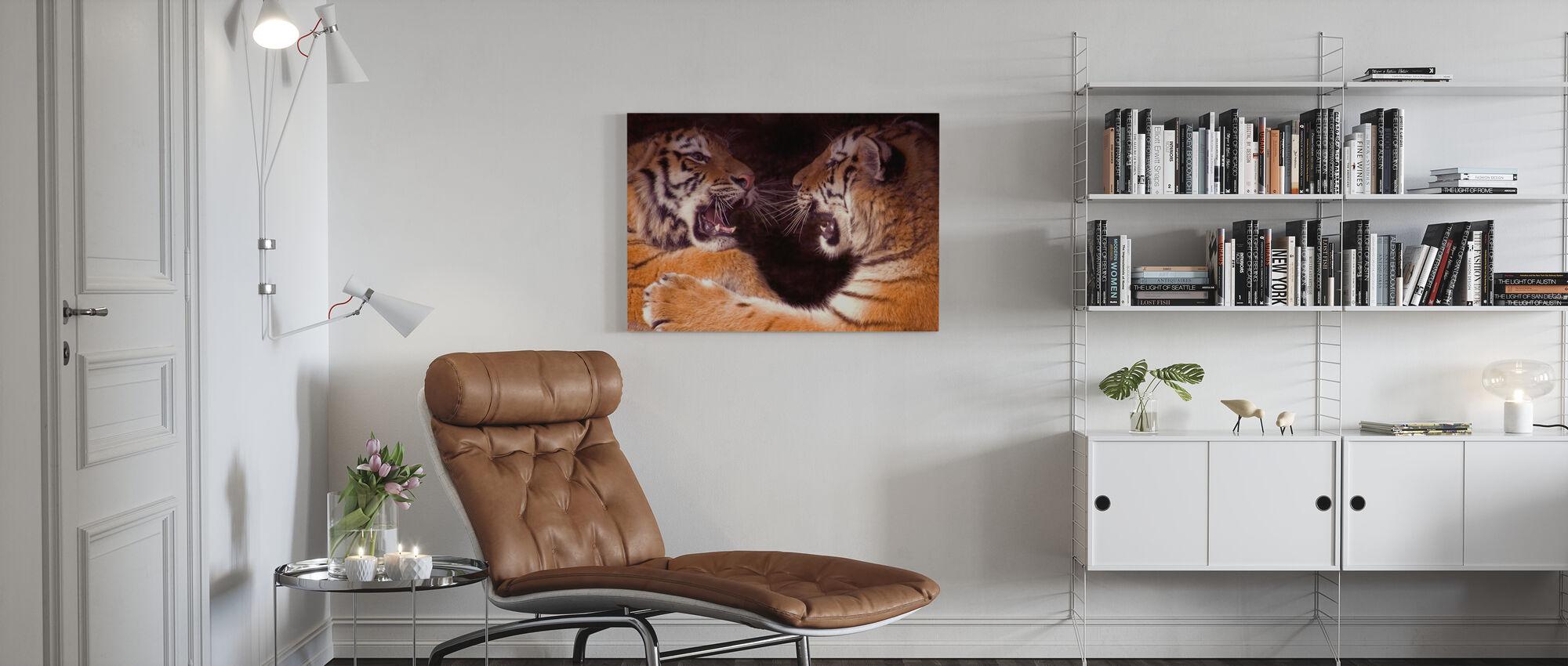 Spelen vechten Cubs - Canvas print - Woonkamer