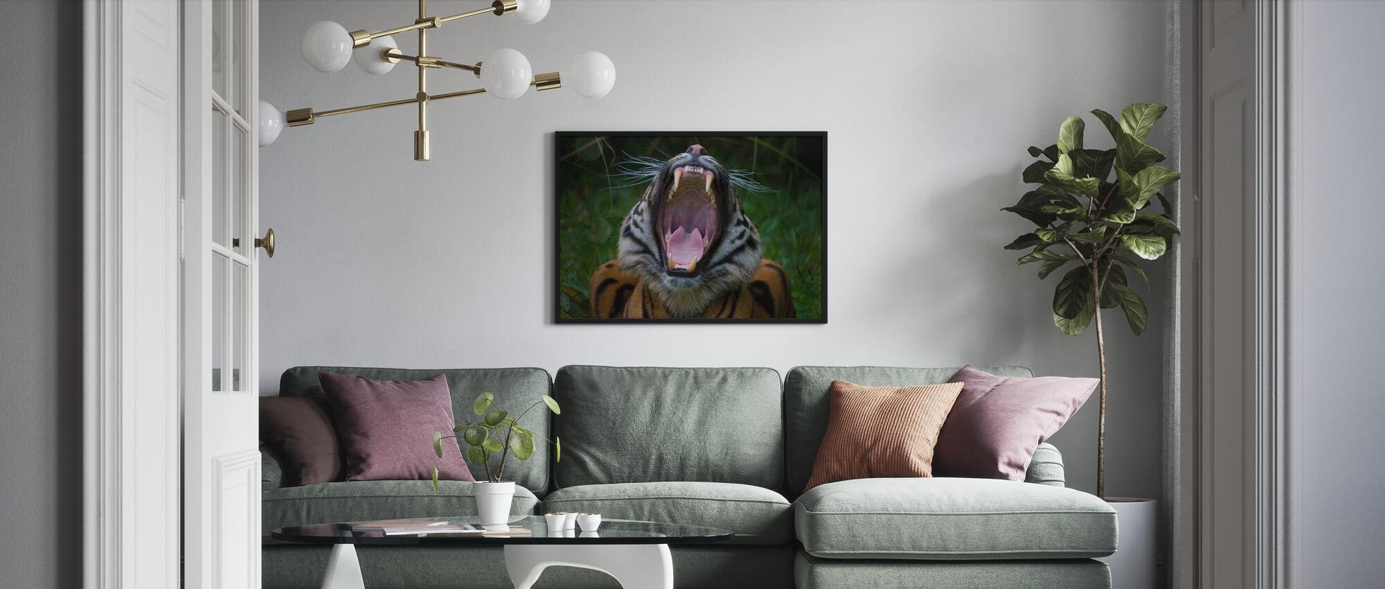 Yawning Tiger - Poster - Living Room