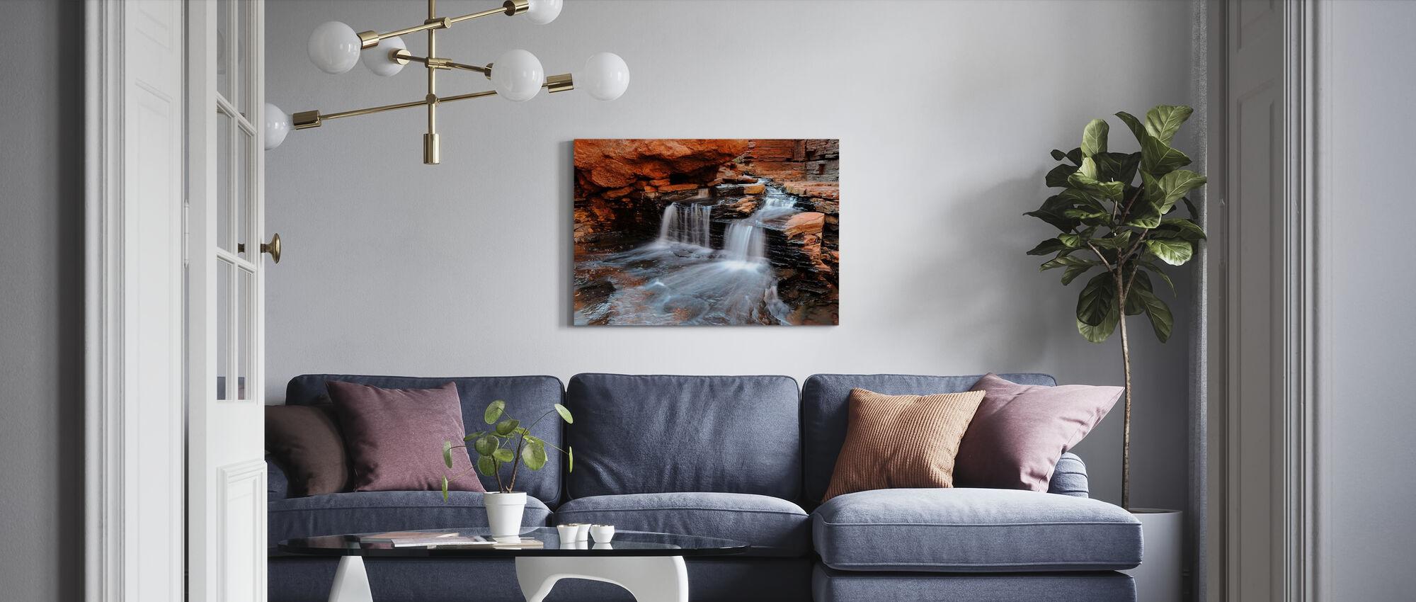 Cascade Flowing - Canvas print - Living Room