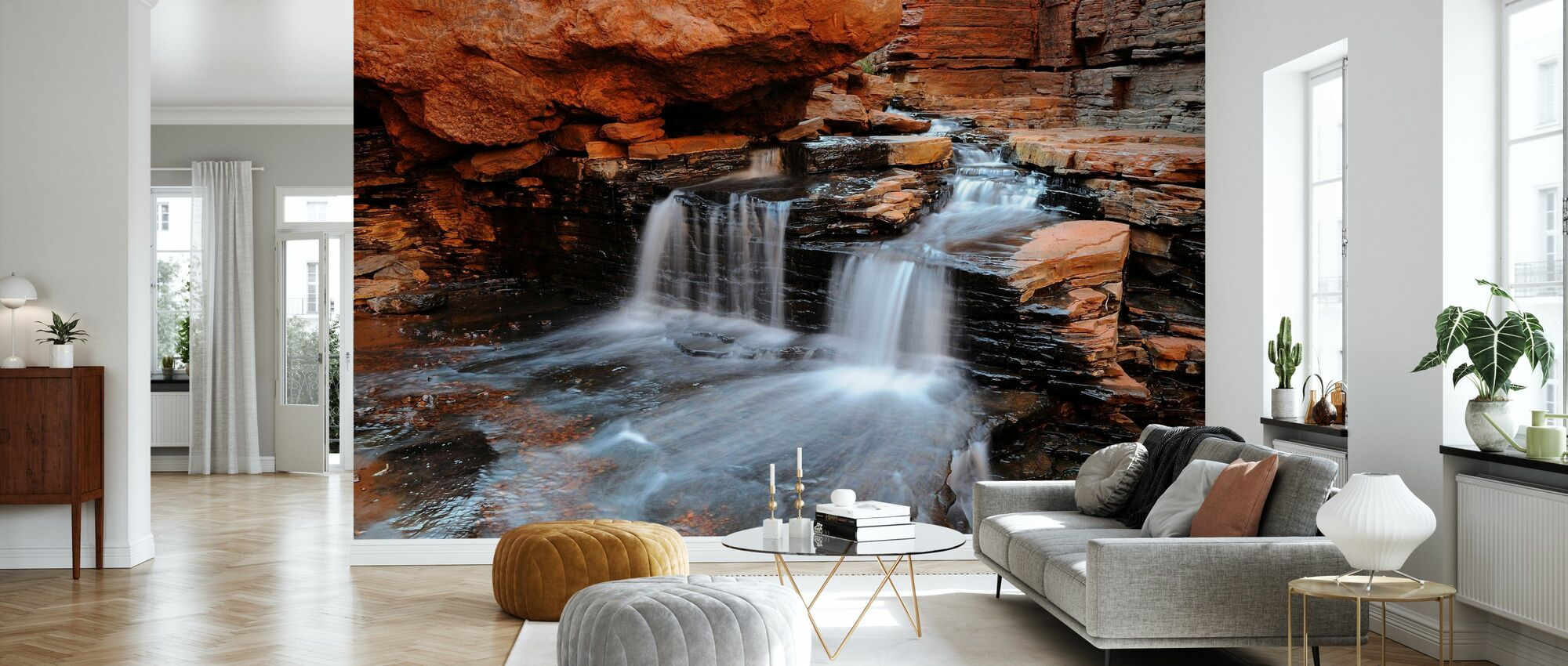 Cascade Flowing - Wallpaper - Living Room