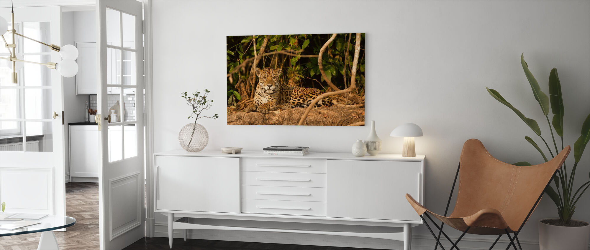 Jaguard Liggend - Canvas print - Woonkamer