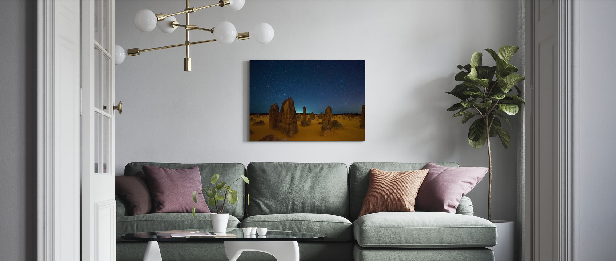 Pinnacles at Night - Canvas print - Living Room