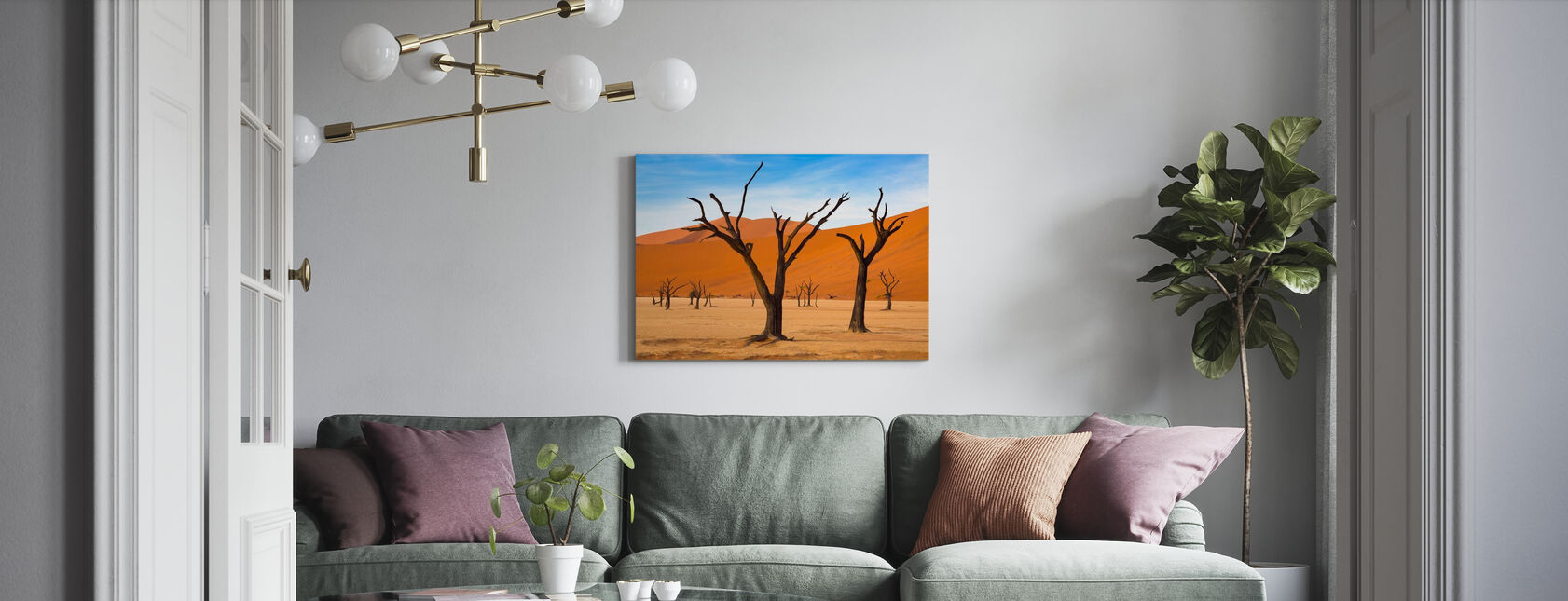 Deadvlei with Dead Trees - Canvas print - Living Room