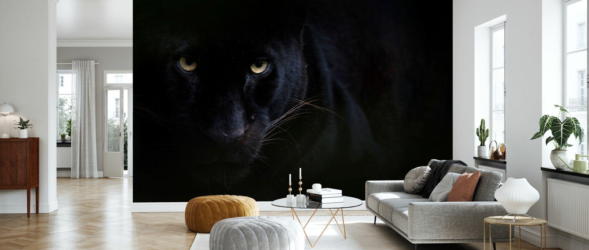 Schwarzer Panther - Tapete - Wohnzimmer