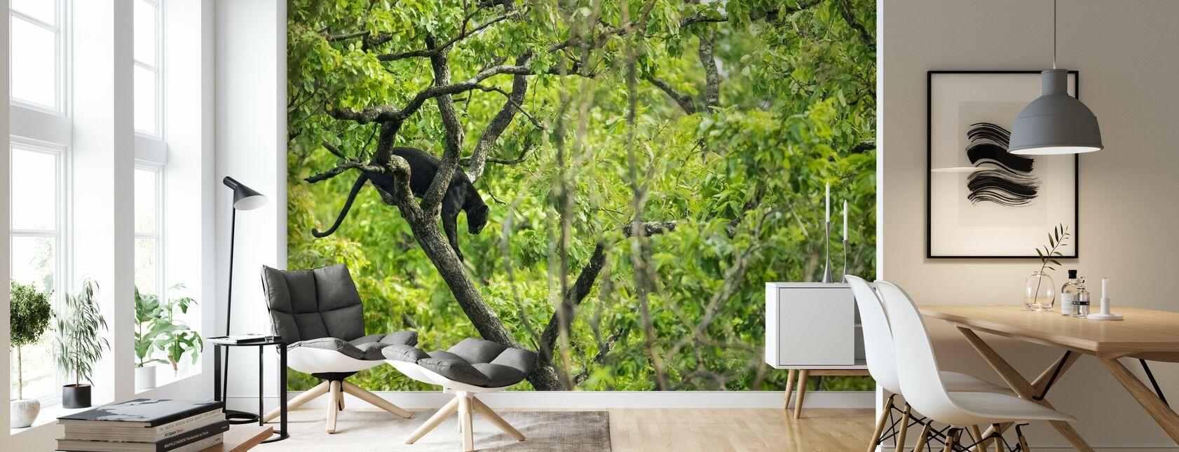 Panthère noire dans l'arbre - Papier peint - Salle à manger