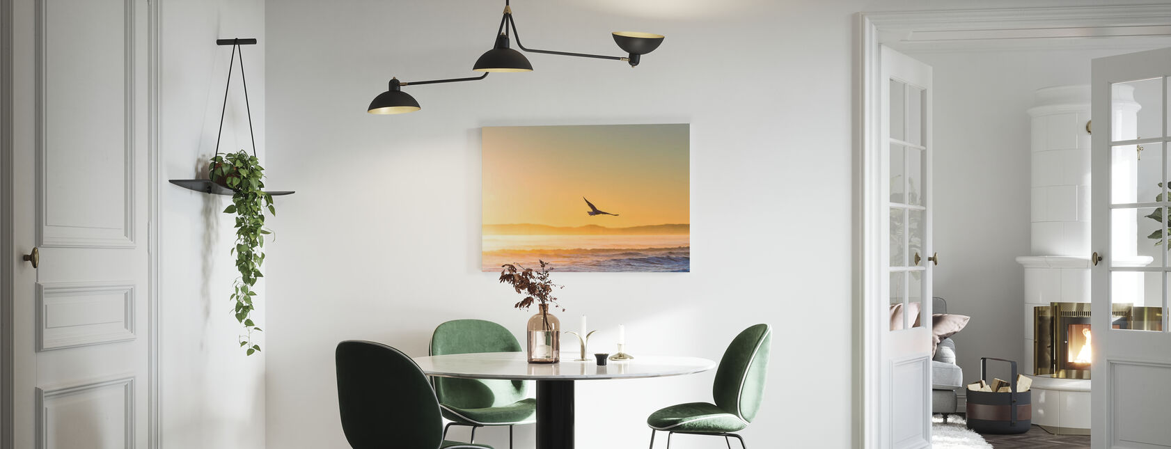 Flying Gull - Canvas print - Kitchen