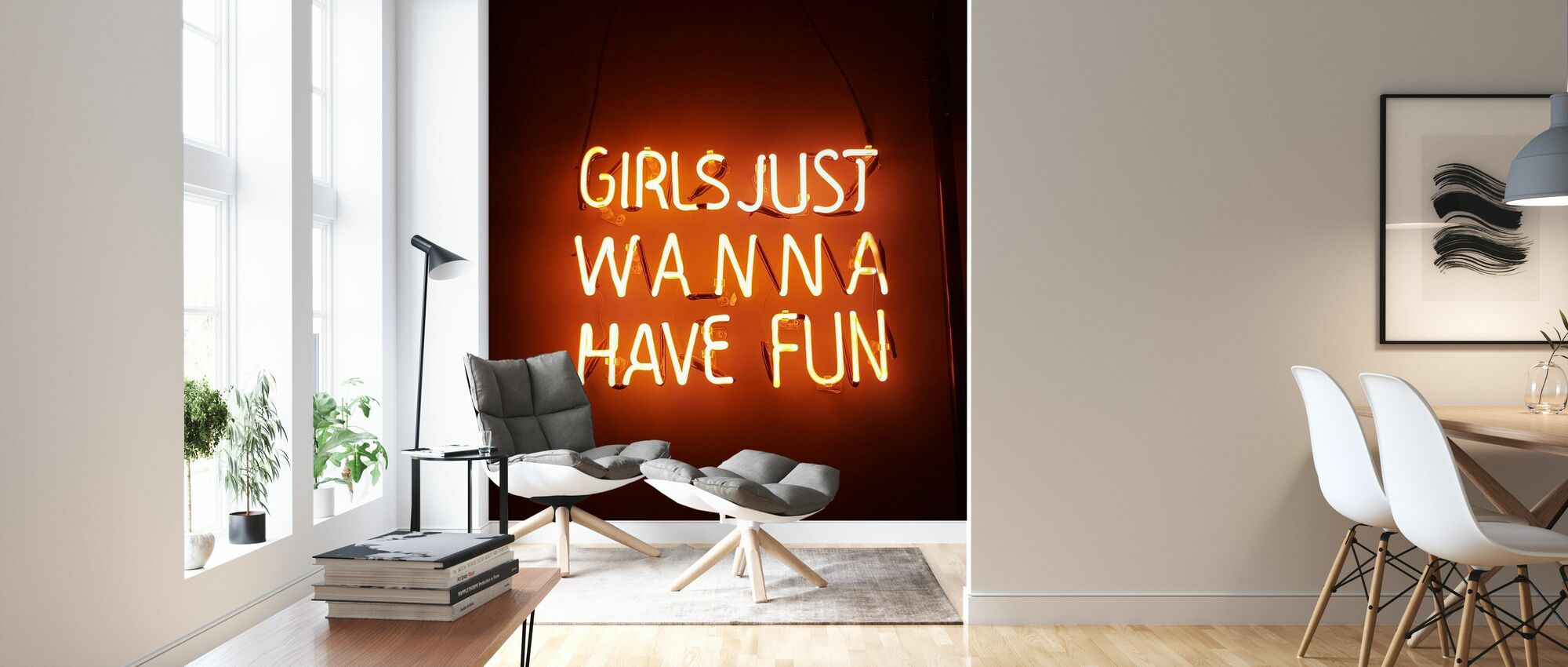 Orange Ljus - Tapet - Vardagsrum