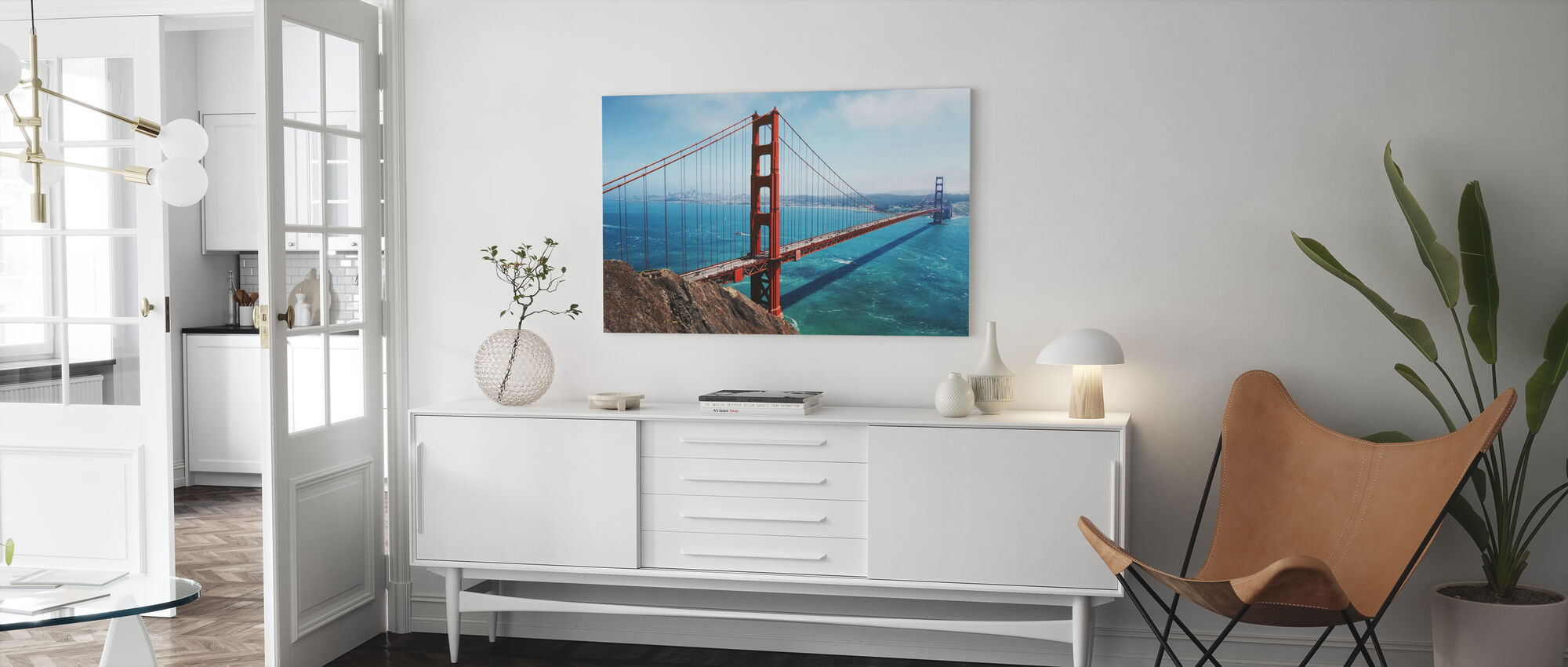 Golden Gate Bridge - Canvas print - Living Room