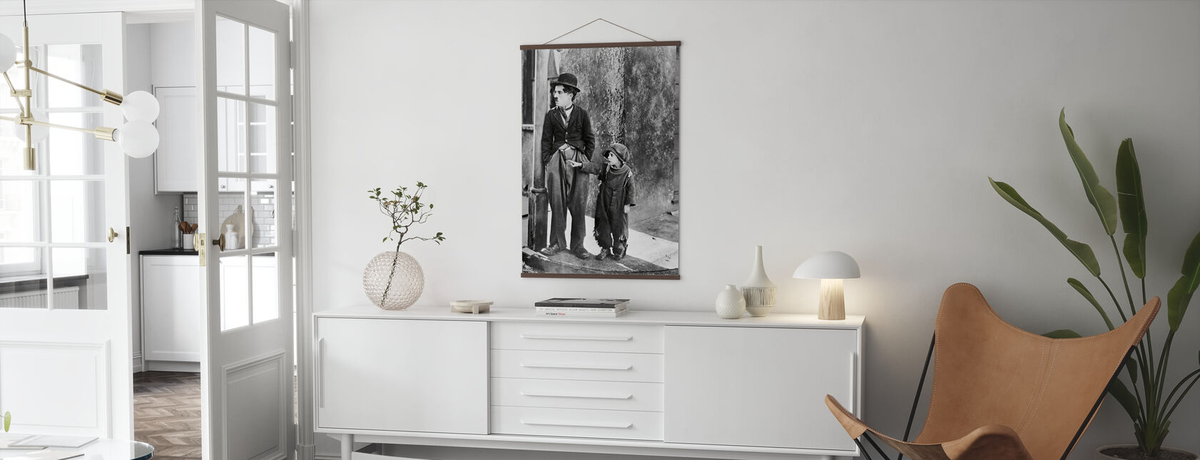 Charlie Chaplin e Jackie Coogan in the Kid - Poster - Salotto
