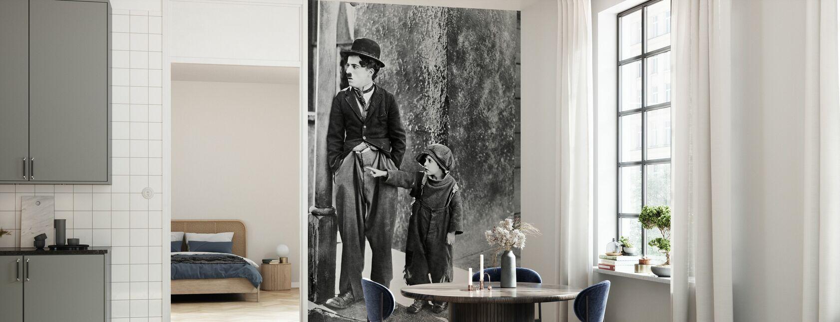 Charlie Chaplin og Jackie Coogan i Kid - Tapet - Kjøkken